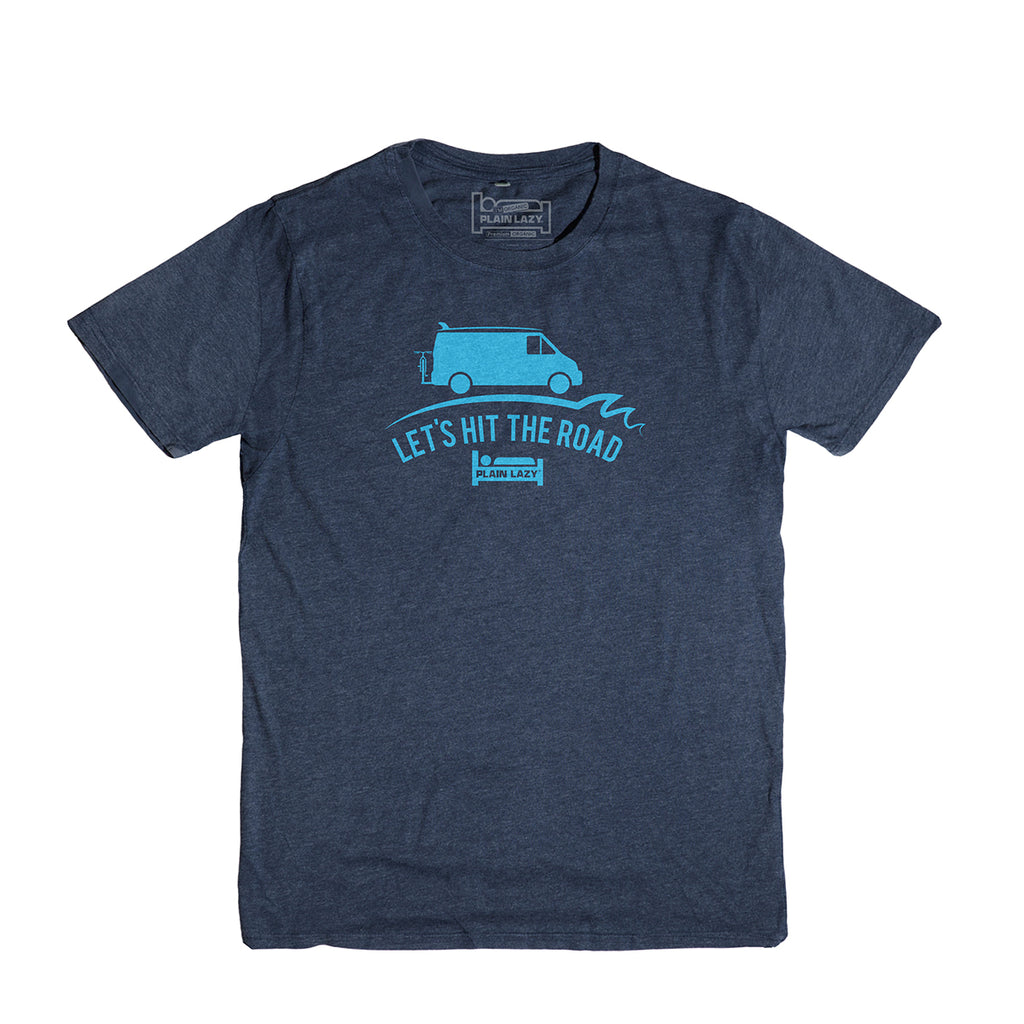 Plain Lazy - Let's Hit The Road Heather Navy Classic Mens T Shirt