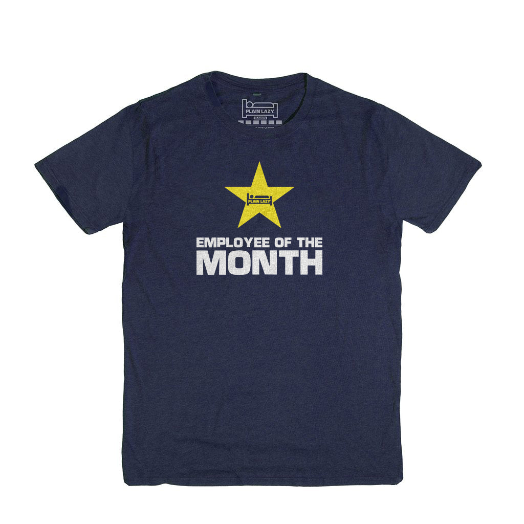 Employee of the Month Heather Navy Classic Mens T Shirt