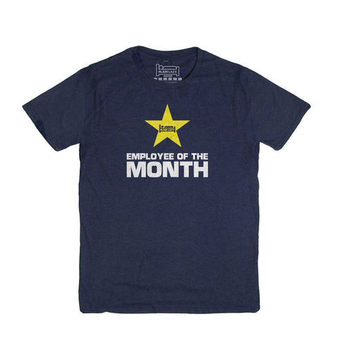 Plain Lazy - Employee of the Month Heather Navy Classic Mens T Shirt