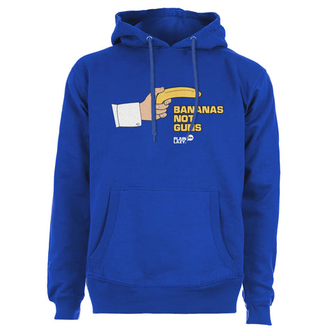 Plain Lazy Plain Lazy - Bananas Not Guns Blue Womens Hoodie