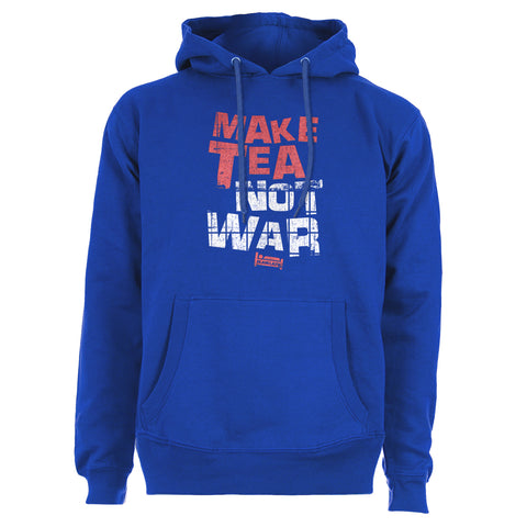 Plain Lazy Plain Lazy - Make Tea Not War Blue Womens Hoodie