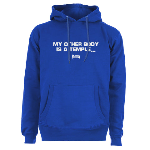 Plain Lazy Plain Lazy - My Other Body is a Temple Blue Mens Hoodie