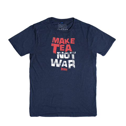Plain Lazy Plain Lazy - Make Tea Not War Navy Classic Mens T Shirt