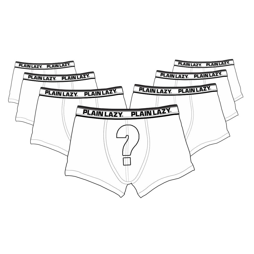Plain Lazy Plain Lazy - Mystery Mens Boxer Shorts - Pack of 7 Pairs