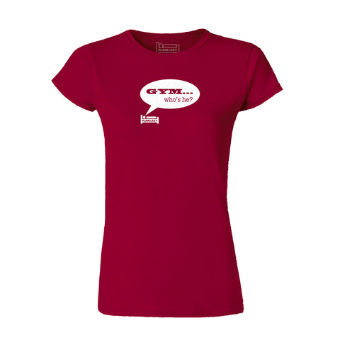 Plain Lazy Plain Lazy - Gym Who's He? Heather Purple Classic Womens T Shirt