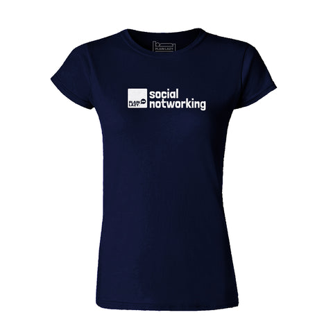 Plain Lazy - Social Notworking Navy Classic Womens T Shirt