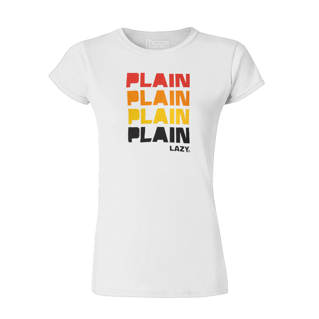 Plain Lazy Plain Lazy - Quad White Classic Womens T Shirt