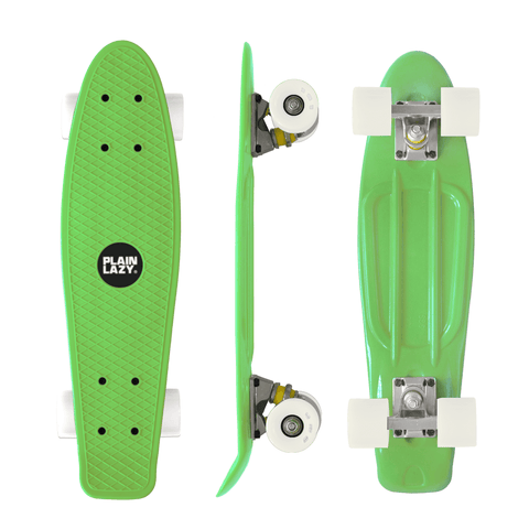 Plain Lazy Plain Lazy - Green Retro Cruiser Complete Skateboard