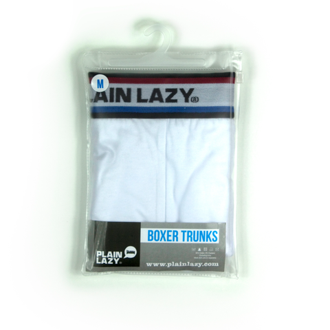 Plain Lazy Plain Lazy Basics White Mens Boxer Shorts