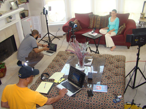 Film Shoot with Wayne C. Robinson, James Frazier and Millicent St. Clair, success principles, the dreams live on book