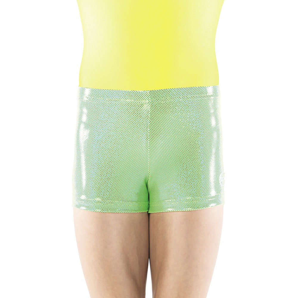Hot Green Sparkle Spandex Shorts