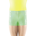 Load image into Gallery viewer, Hot Green Sparkle Spandex Shorts