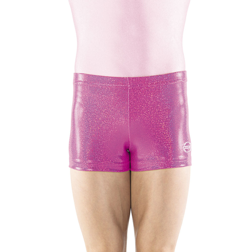 Pink Sparkle Spandex Shorts