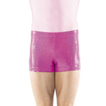 Load image into Gallery viewer, Pink Sparkle Spandex Shorts