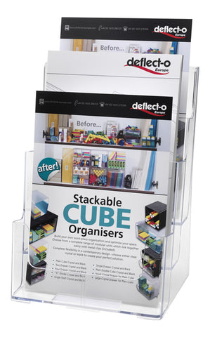 Clear 3 Tier A4 Dispenser - DWS Supplies Ltd