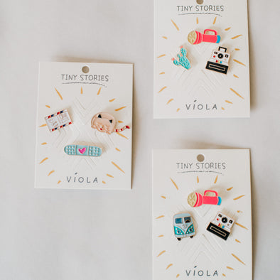 Tiny Stories Enamel Pins