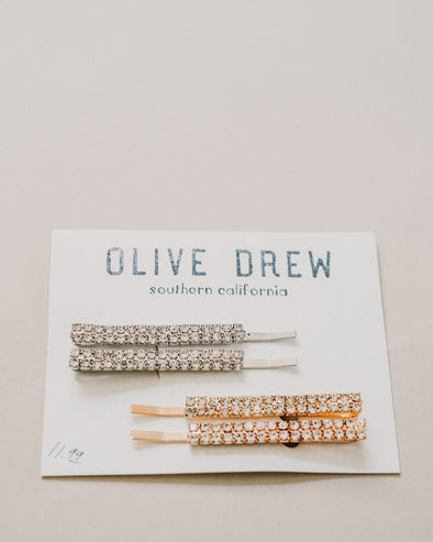 4-Pack Diamond Silver and Gold Hair Pins