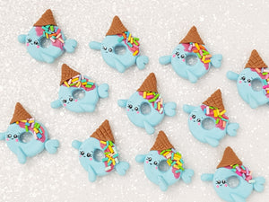 Clay Charm Embellishment - Narwhal Donut Delight - Crafty Mood