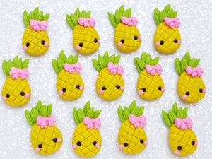 Clay Charm Embellishment - NEW Pineapple Bow - Crafty Mood