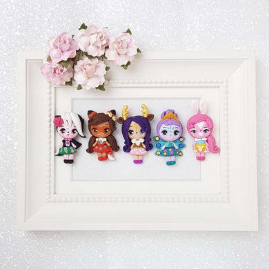 Clay Charm Embellishment - Woodland Girls - Crafty Mood