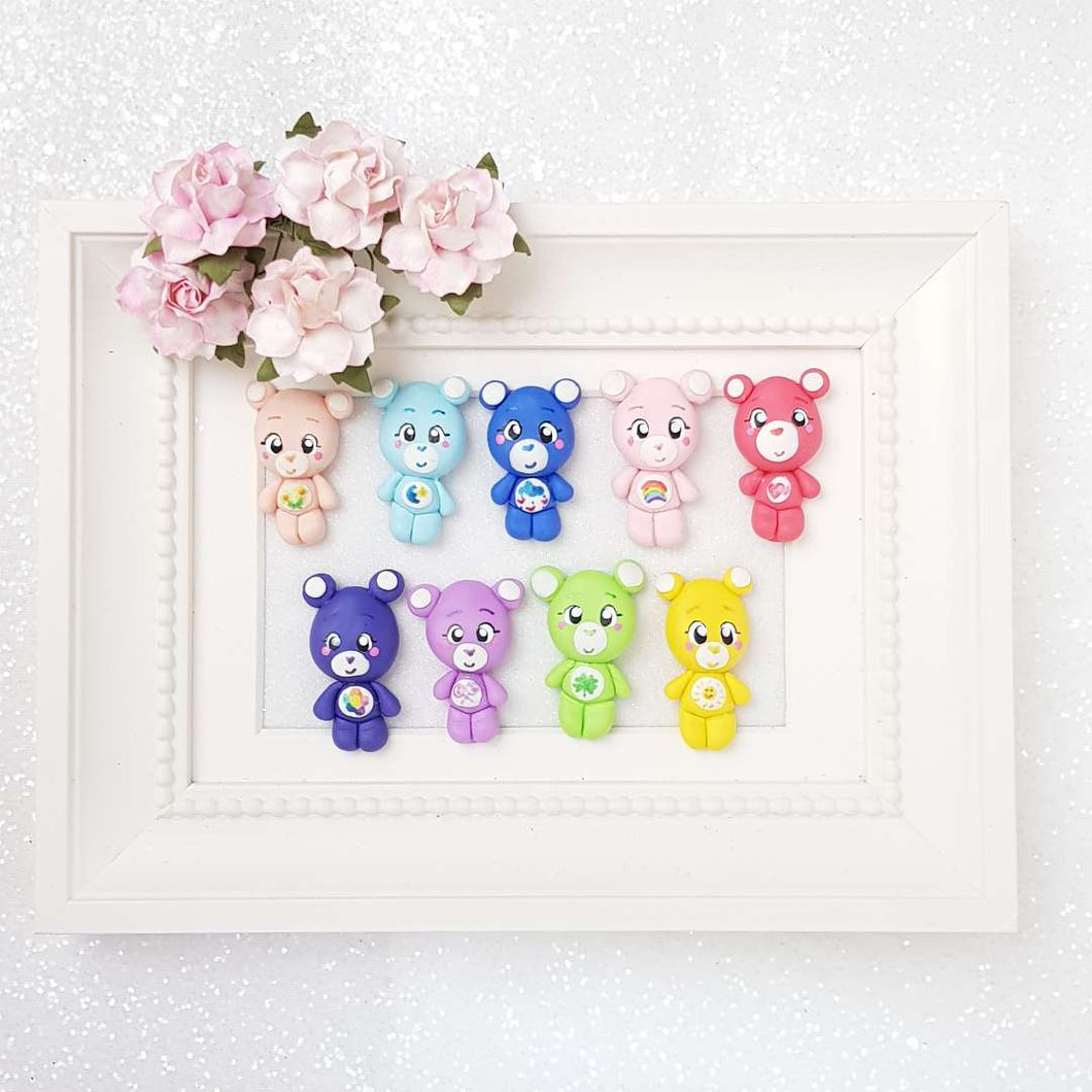 Clay Charm Embellishment - Colorful Bear - Crafty Mood