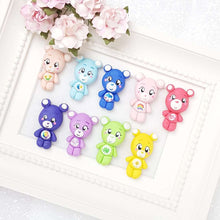 Load image into Gallery viewer, Clay Charm Embellishment - Colorful Bear - Crafty Mood