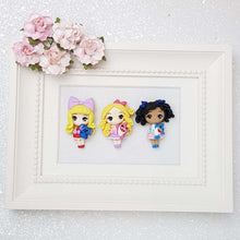 Load image into Gallery viewer, Girl and Her Pet - Embellishment Clay Bow Centre - Big Eyes - Crafty Mood