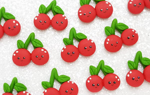 Clay Charm Embellishment - NEW Cherry - Crafty Mood