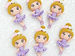 Clay Charm Embellishment - New Ballerina - Lilac - Crafty Mood