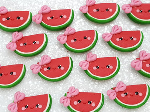 Clay Charm Embellishment - NEW Watermelon Bow - Crafty Mood