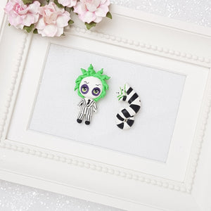 Big Eyes Halloween Snake - Embellishment Clay Bow Centre - Crafty Mood