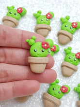 Load image into Gallery viewer, Clay Charm Embellishment - NEW Mini Cactus - Crafty Mood