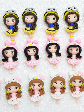 Clay Charm Embellishment - New Dressing Up Girl - Crafty Mood