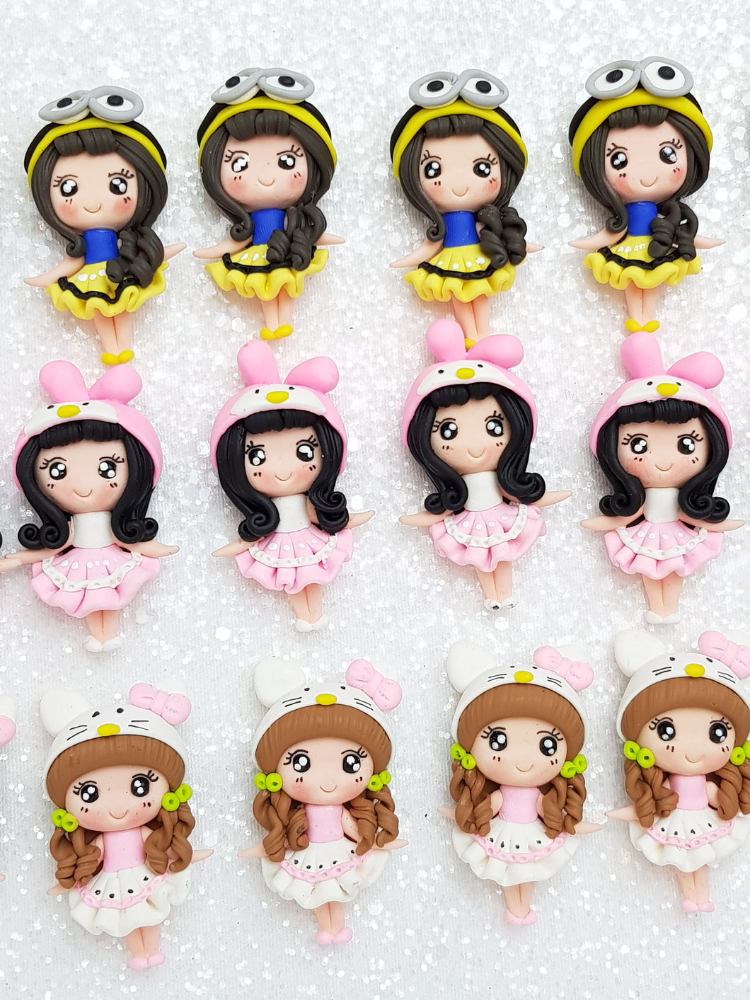Clay Charm Embellishment New dressing up girl spu - Crafty Mood