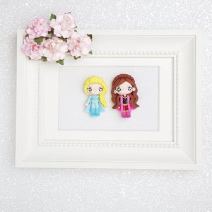 Clay Charm Embellishment - Winter Girl - Crafty Mood