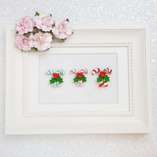 Load image into Gallery viewer, Candycane - Embellishment Clay Bow Centre - Crafty Mood