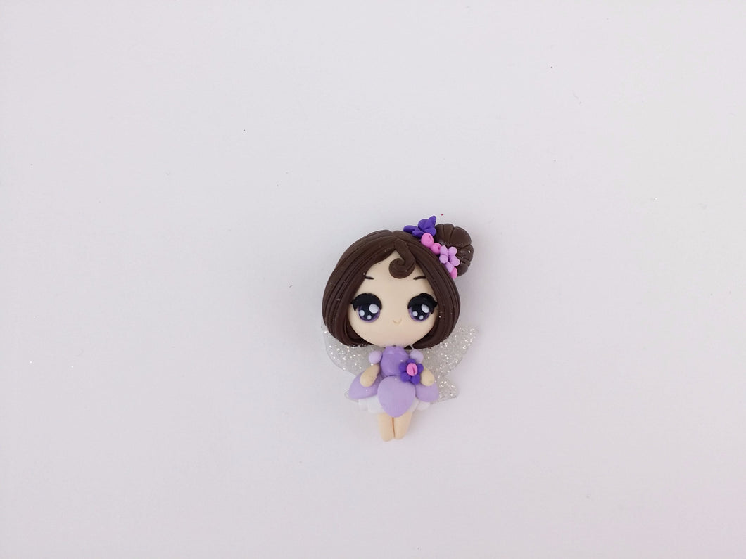 Clay Charm Embellishment Fairy B light purple SF - Crafty Mood