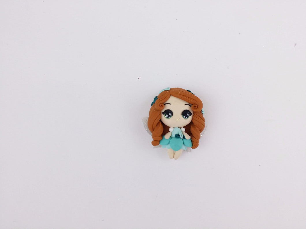 Clay Charm Embellishment Fairy C tosca approx 4cm tall SF - Crafty Mood