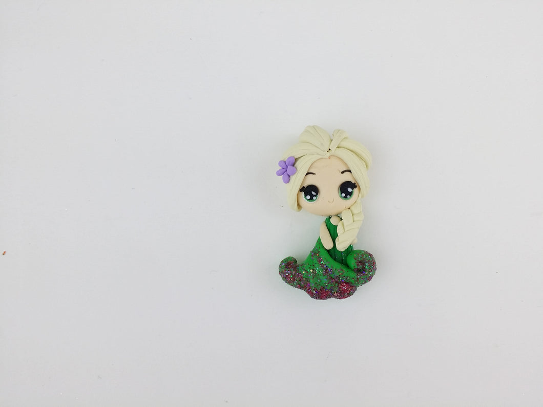 Clay Charm Embellishment - El Green Big Eyes approx. 4cm - Crafty Mood