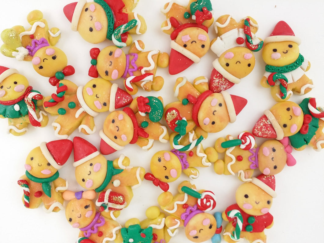 Clay Charm Embellishment - Random Gingerbread - Crafty Mood