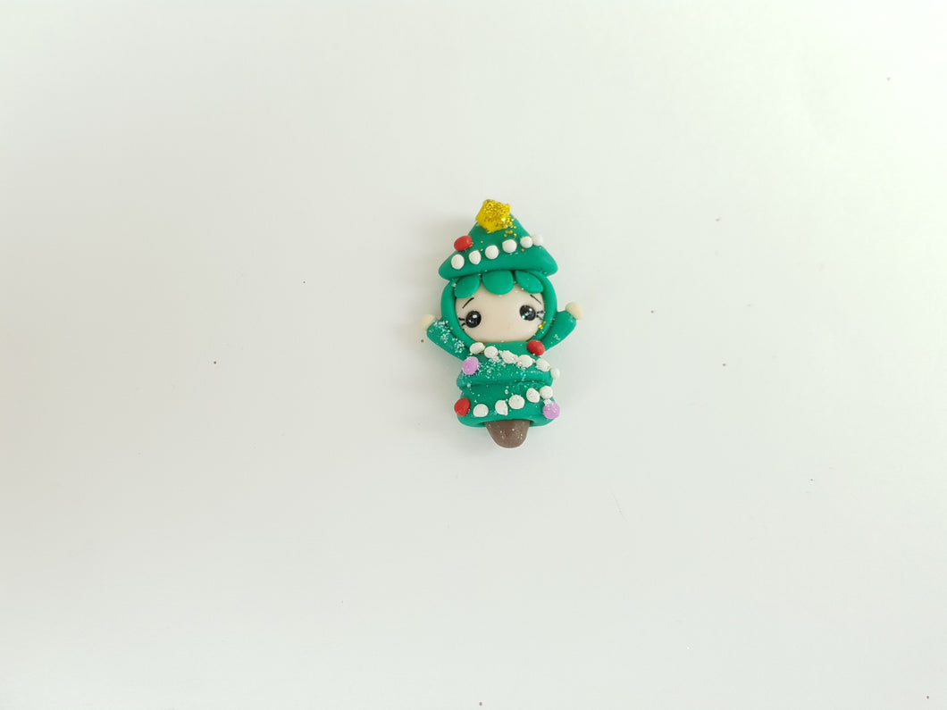Clay Charm Embellishment - Christmas Tree - Crafty Mood