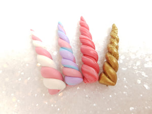Handmade Flat Back Clay Embellishment UNICORN HORN - Crafty Mood