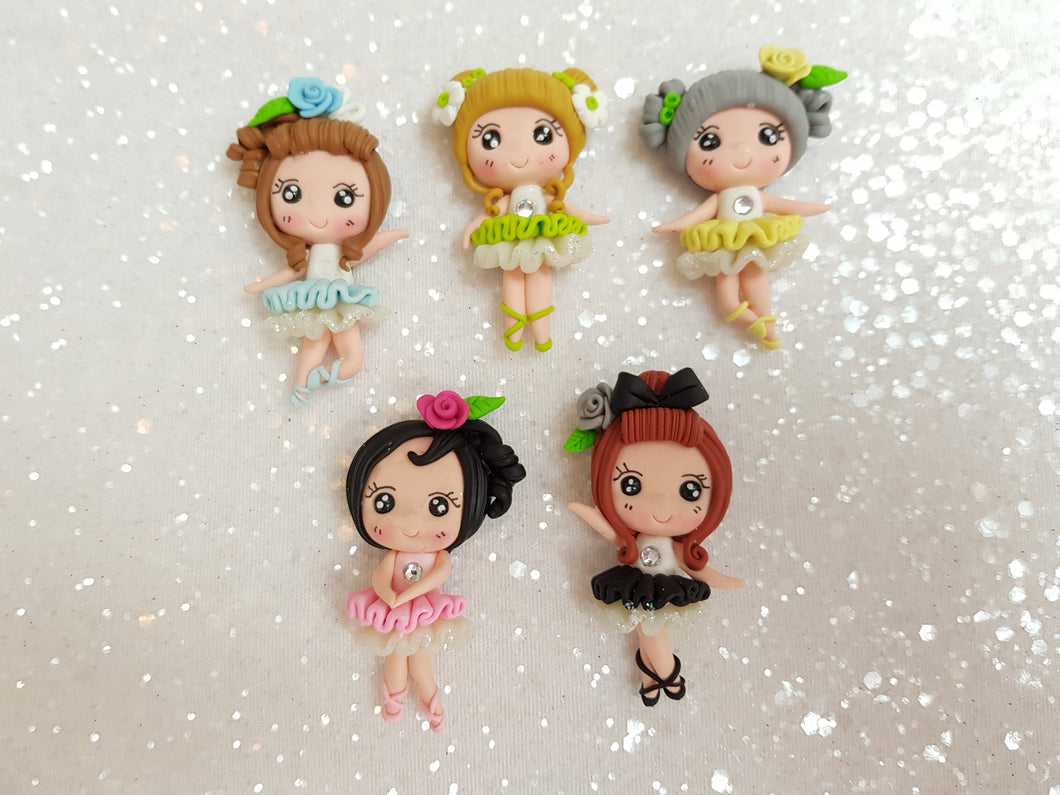 Clay Charm Embellishment BALLERINA GIRL - Crafty Mood