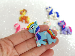 Handmade Flat Back Clay Embellishment PONY - Crafty Mood