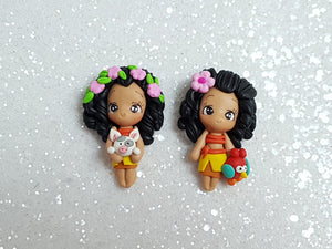 Clay Charm Embellishment - MOA AND FRIEND- approx 4 cm - Crafty Mood