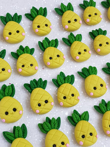 Clay Charm Embellishment - NEW PINEAPPLE - Crafty Mood