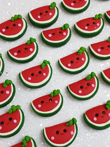 Handmade Flat Back Clay Embellishment NEW WATERMELON - Crafty Mood