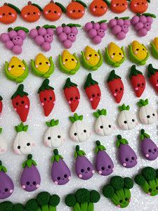Handmade Flat Back Clay Embellishment NEW VEGGIE PRICE OF EACH - Crafty Mood