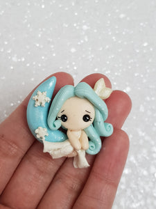 Clay Charm Embellishment - NEW GIRL ON THE MOON - Crafty Mood