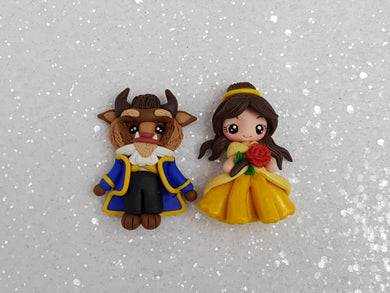 Clay Charm Embellishment NEW PRINCESS AND THE BEAST - Crafty Mood